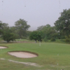 A view of a hole guarded by bunkers at Nkana Golf Club
