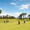A view of a green at Mangais Golf Club