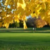 A fall view of a green at Maitland Club