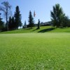 A view of the 9th green at Smoky Lake Golf Club