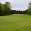 The tree lined approach to the 11th hole at Kidderminster Golf Club