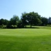 The 2nd green at Marple Golf Club