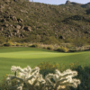 A view of a green at Tortolita from The Golf Club at Dove Mountain