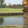 A view over the water of a hole at Club Intramuros