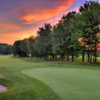 Sunset view of the 9th hole at Gaylord Golf Club
