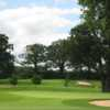 Beautiful view of the 12th green and surrounding bunkers at The Astbury