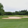 View of a bunkered green at Horseshoe Resort