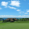 View of the 11th green and clubhouse at Bell Bay Golf Club
