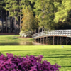 A sunny day view from the Country Club of North Carolina.