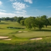 A view of a hole surrounded by tricky bunkers at Gulph Mills Golf Club