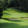 View of green and bunkers at Delgany Golf Club