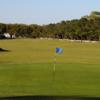 Looking back from a green at Old Carolina Golf Club