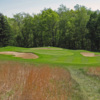 A view of the well protected green #4 at Quaker Hill Country Club