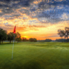 Sunset view of green #15 at Timacuan Golf Club (Edwin Madera at EMS Photography Studio).