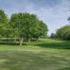 Looking back from a green at Rivermoor Golf Club