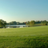 View of the 2nd green from the Lake course at The Hollows Golf Club