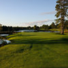 A view of the par-3 12th hole on the Monarch golf course at Garland Lodge & Golf Resort.