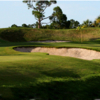 A view of green #15 at Fazio Course at Old Trail from Jonathan's Landing