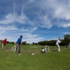 A view from the driving range tees at Glen Oaks Country Club