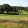 The 18th green and greenside at Caernarfon Golf Club