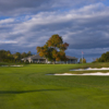 View of the 18th hole and clubhouse at Penobscot Valley Country Club