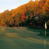A fall view of hole #1 at Virginian Golf Club