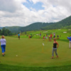 A view of the practice area at Bear Lake Golf Club