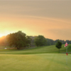 Sunset view of the 14th green at The Bath Golf Club