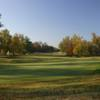 A warm fall day of a hole at Kokopelli Golf Course