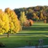 A fall foliage view from Elkader Golf & Country Club
