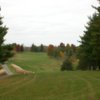 A fall view from a tee at Kalona Golf Club