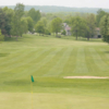 A view from a green at Lake MacBride Golf Course
