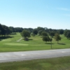 A view of green #5 at Four Oaks Golf Course