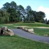 A view of a hole at Bellefonte Country Club