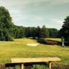 A sunny day view of a hole at Harlan Country Club