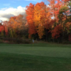 A fall view of a green at Templewood Golf Course