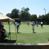 A view of the practice putting green at Greenville Country Club