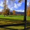 A view over a fence of hole #18 at Cabinet View Country Club (Ruth Fenn)