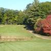 A view over a pond from Pine Grove Springs Country Club