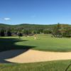 A view of green #9 from Double Black Diamond at Holiday Valley Resort