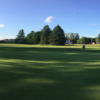 A view of the 9th hole from Pines at Canadian Lakes Country Club
