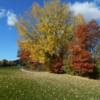 A fall view from Pine Creek Golf Course