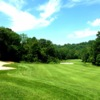 A view of fairway and green #1 at Hollow Brook Golf Course