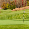A fall day view of a green at Trump National Golf Club Hudson Valley
