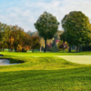 A view of a hole protected by bunkers at Mahopac Golf Club