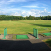A view from the driving range tee at Delta Knolls Golf Center