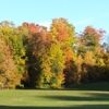 A fall day view of a green at Sauquoit Knolls Golf Club