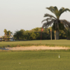 View of a green and bunker at Cove Cay Golf Club
