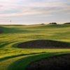 A view of hole #1 at Royal Porthcawl Golf Club