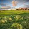 A view of the 18th green at Royal Porthcawl Golf Club